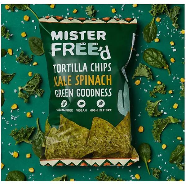 Kale & Spinach Tortilla Chips Gluten Free
