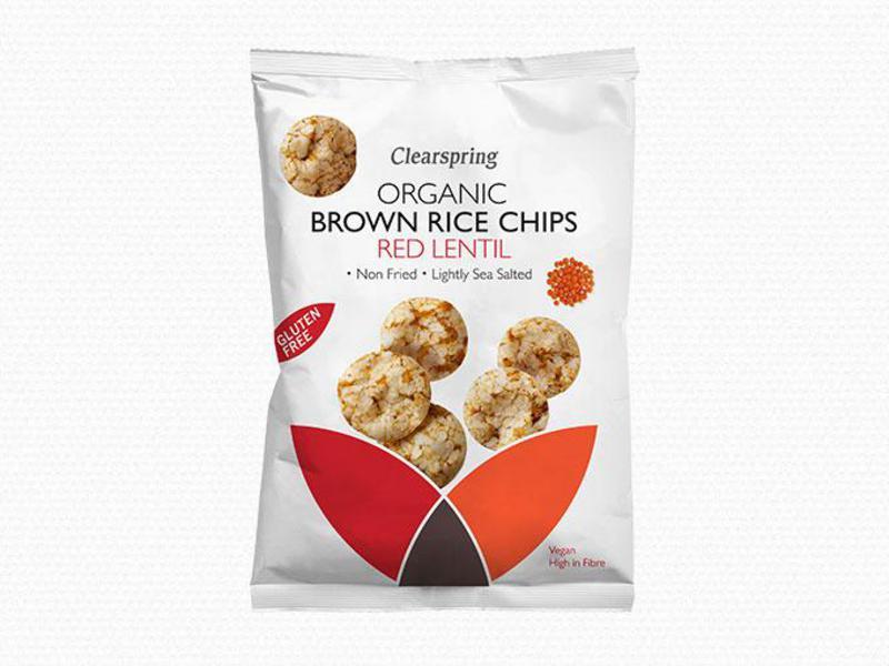 Red Lentil Brown Rice Chips Gluten Free, sugar free, ORGANIC