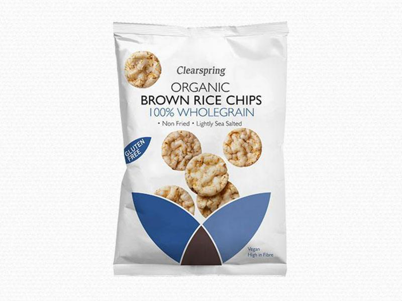 100% Wholegrain Brown Rice Chips Gluten Free, sugar free, ORGANIC