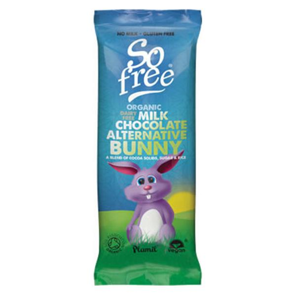 Alternative to Milk Chocolate Easter Bunny Gluten Free, Vegan, ORGANIC