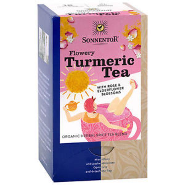 Turmeric With Rose & Elderflower Blossom Tea ORGANIC