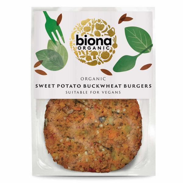Buckwheat & Sweet Potato Burger dairy free, Vegan, ORGANIC