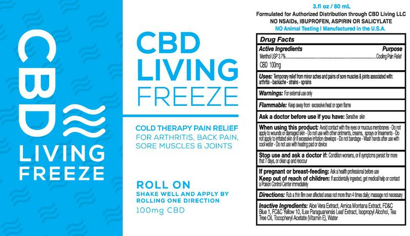Freeze 100mg CBD Supplement image 2