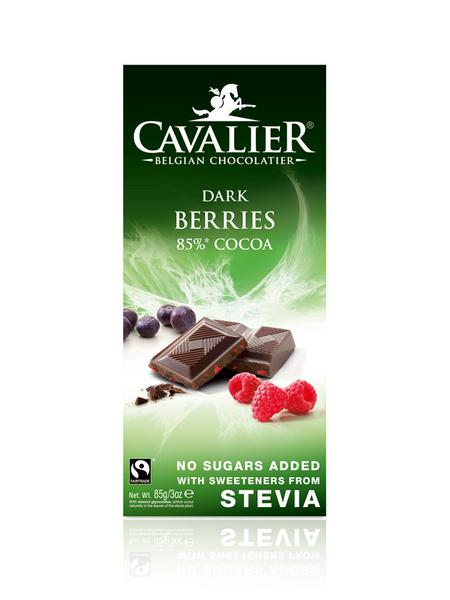 85% Cocoa Dark Chocolate With Berries no added sugar, FairTrade