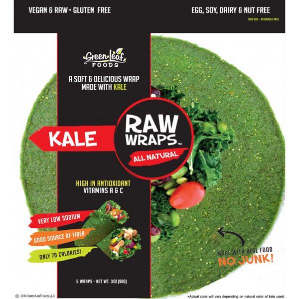 Kale Raw Wraps Vegan