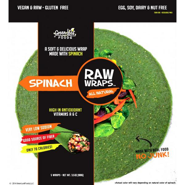 Spinach Raw Wraps Vegan