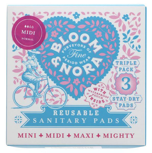 Stay Dry Reusable Midi Sanitary Pads + Bag