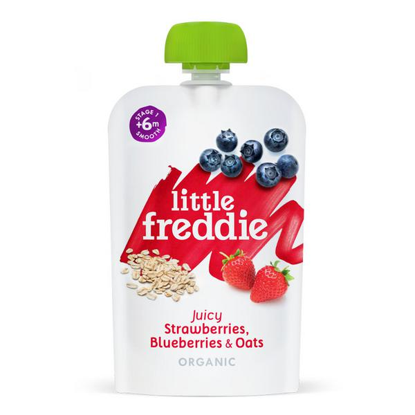 Juicy Strawberries,Blueberries & Oats Baby Food ORGANIC