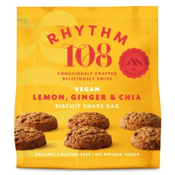 Lemon,Ginger & Chia Biscuits ORGANIC