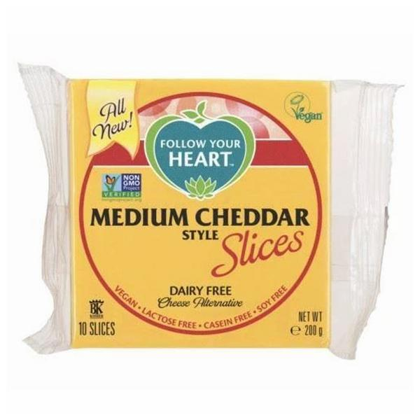 Medium Dairy Free Cheese Cheddar Style Slices Vegan