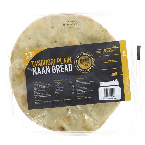 Plain Tandoori Naan Bread