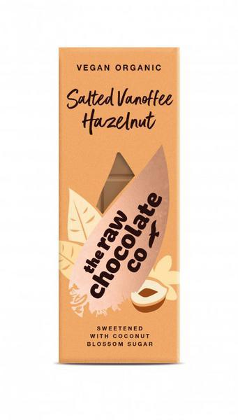 Salted Vanoffee & Hazelnut Raw Chocolate Bar Vegan, ORGANIC