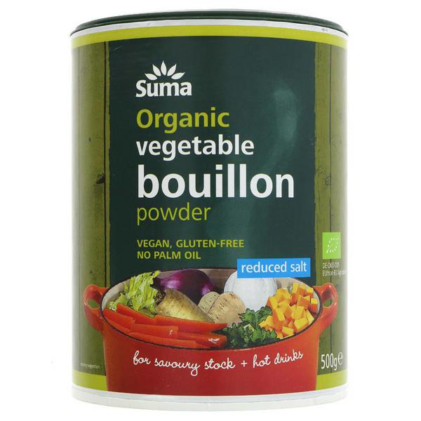 Reduced Salt Vegetable Powder Bouillon Vegan, ORGANIC