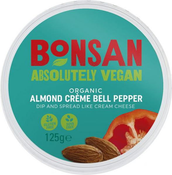 Almond Cream Bell Peppers dairy free, Vegan, ORGANIC