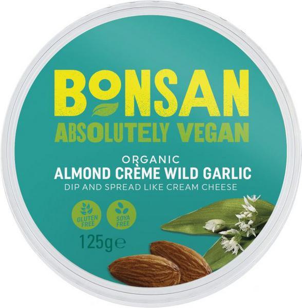 Almond Creme Wild Garlic dairy free, Vegan, ORGANIC