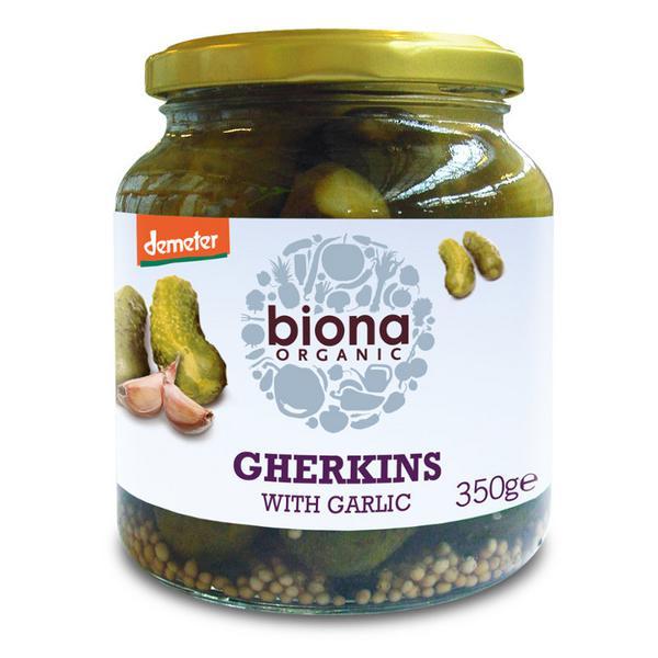 Demeter Gherkins With Garlic ORGANIC