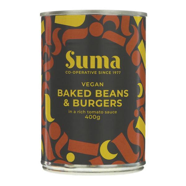 Baked Beans With Vegan Burger Vegan, ORGANIC