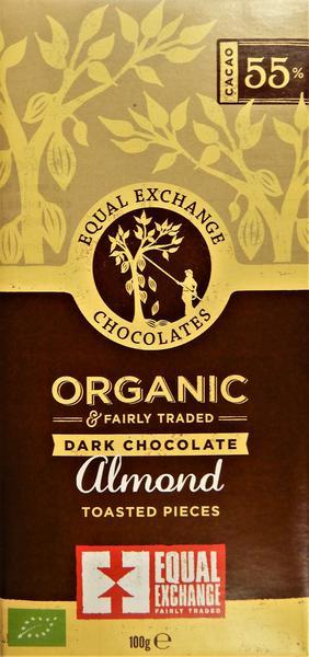 Almond Dark Chocolate FairTrade, ORGANIC