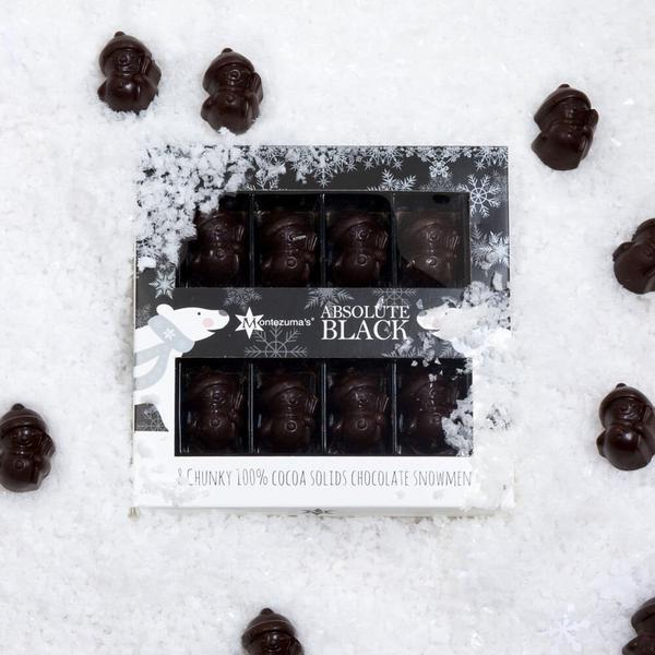 Absolute Black Chocolate Truffles Snowmen