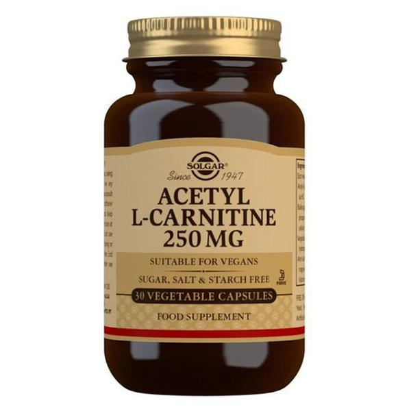 Amino Acid Acetyl-L-Carnitine Supplement 250mg Gluten Free, Vegan