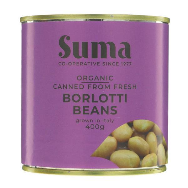Italian Fresh Borlotti Beans Vegan, ORGANIC