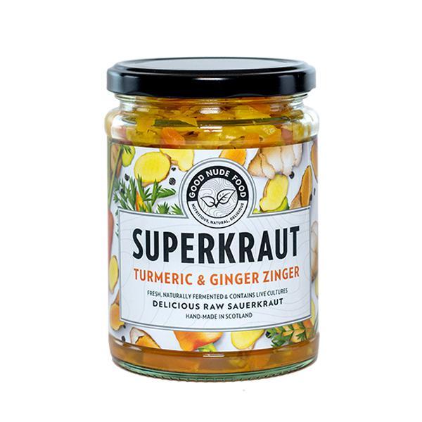 Turmeric & Ginger Zinger Superkraut Sauerkraut dairy free, Vegan