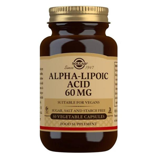 Alpha Lipoic Acid Antioxidants 60mg Vegan