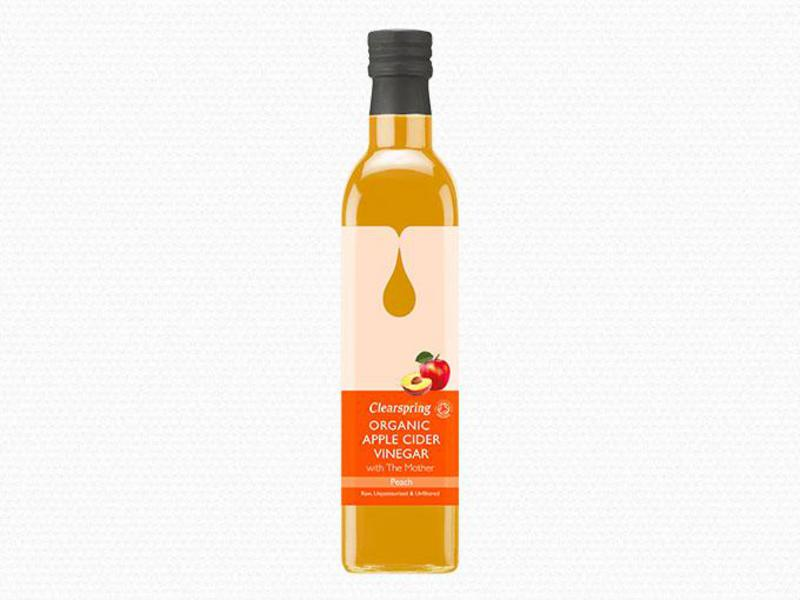 Apple Cider Vinegar With Mother Peach Vegan, ORGANIC