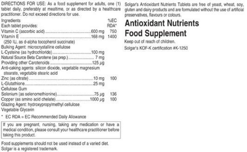 Antioxidants Nutrient Gluten Free, Vegan image 2