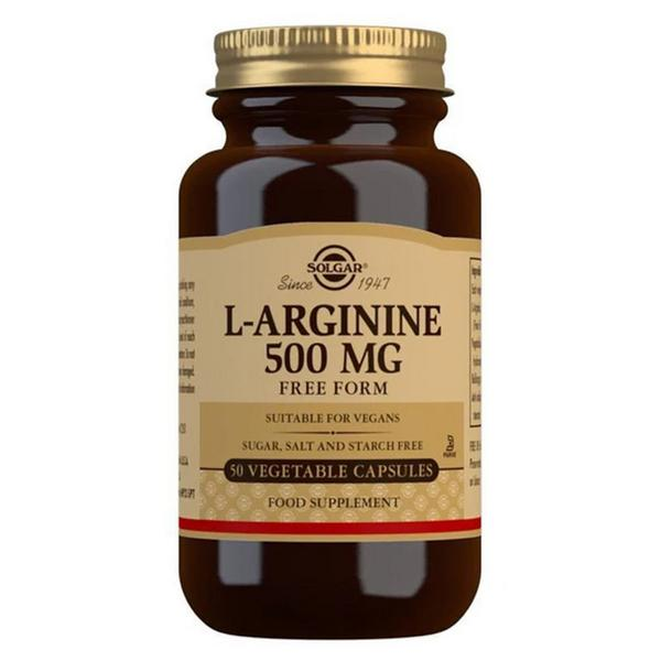 L-Arginine Amino Acid 500mg Vegan