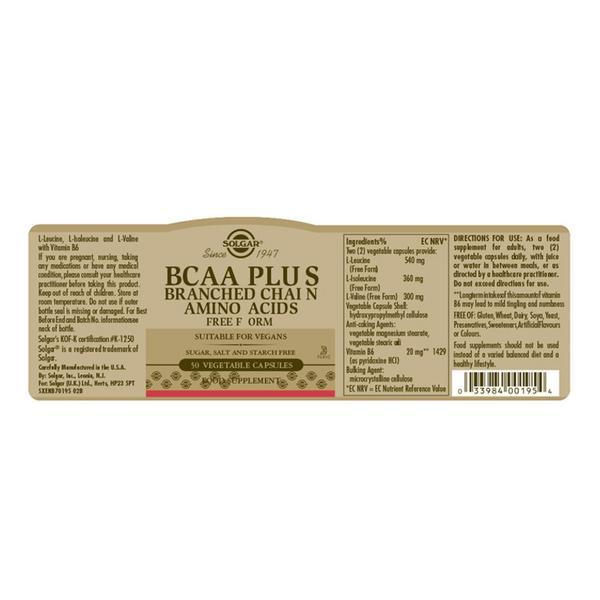 BCAA Amino Acid Plus dairy free, Gluten Free image 2