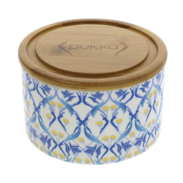 Blue Helix Ceramic Tea Caddy