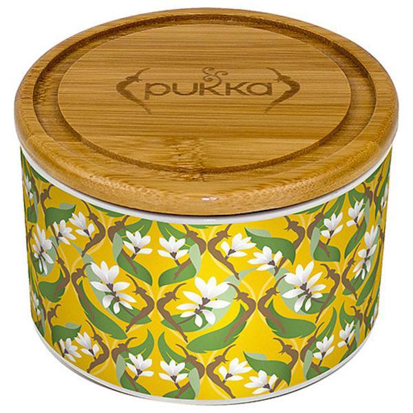 Turmeric Gold Ceramic Tea Caddy