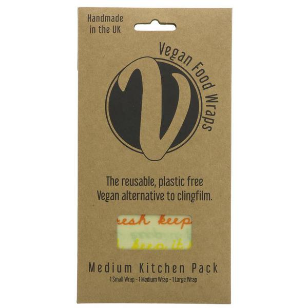 Bran Wax Kitchen Wrap Medium Pack Vegan