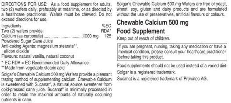Chewable Calcium Mineral 500mg  image 2