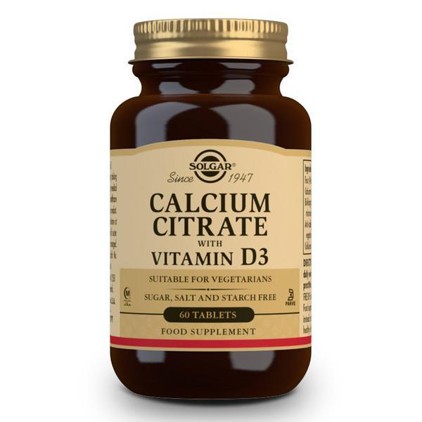 Calcium Citrate With Vitamin D3 Gluten Free