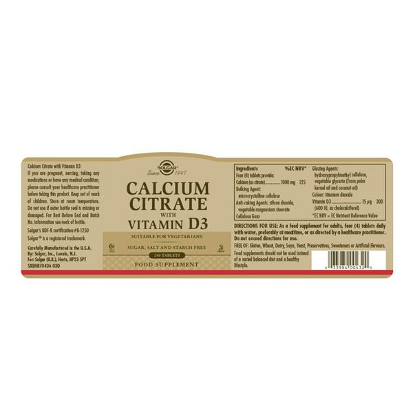 Calcium Citrate With Vitamin D  image 2