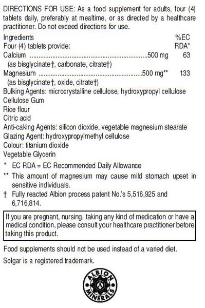 Calcium & Magnesium 1 : 1 Supplement  image 2