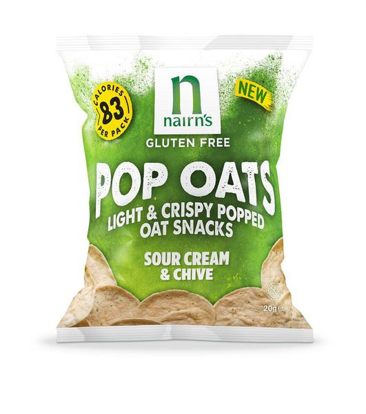 Sour Cream & Chive Popped Oat Snacks Gluten Free