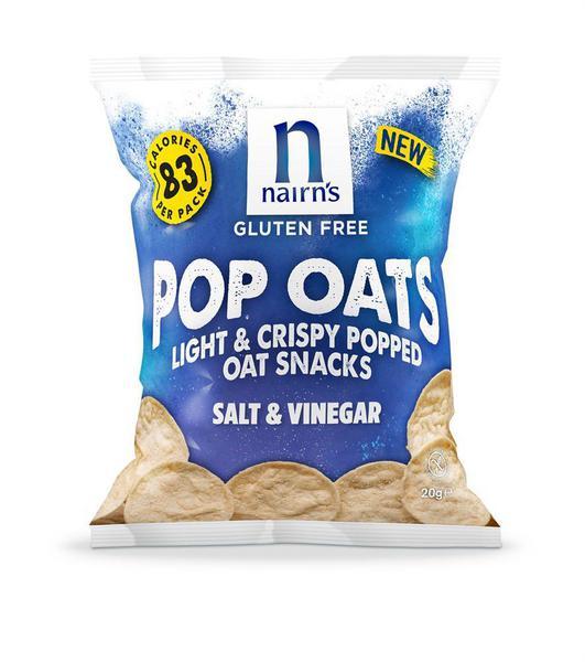 Salt & Vinegar Popped Oat Snacks Gluten Free, Vegan