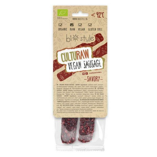 CultuRaw Vegan Sausage Savoury ORGANIC