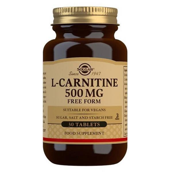 L-Carnitine Amino Acid Maxi 500mg dairy free, Gluten Free, Vegan