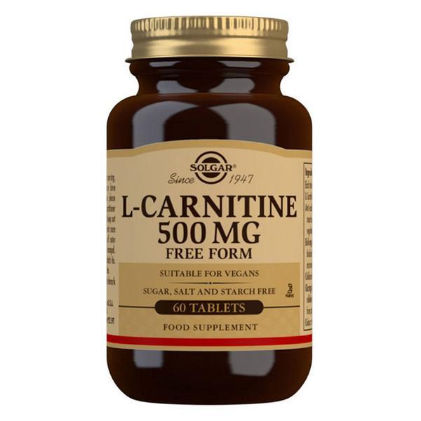 L-Carnitine Amino Acid 500mg dairy free, Gluten Free, Vegan