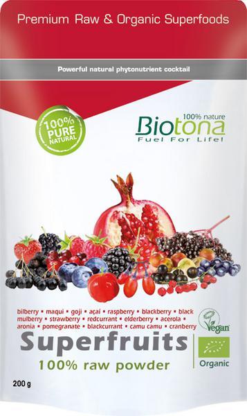 Superfruits 100% Raw Powder Vegan, ORGANIC
