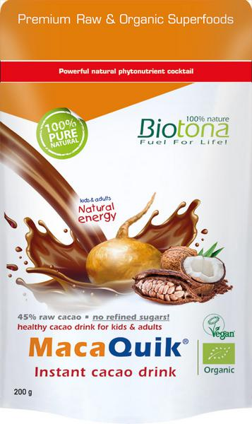 Maca Quick Instant Cacao Drink Vegan, ORGANIC
