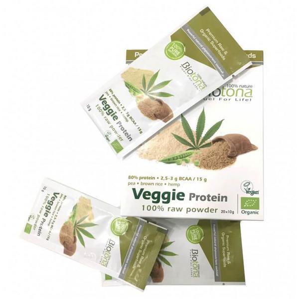 Veggie Raw Protein Powder Vegan, ORGANIC