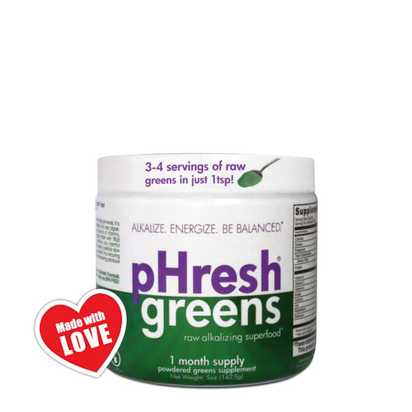 pHresh Greens Alkaline Superfood dairy free, Gluten Free, Vegan, ORGANIC