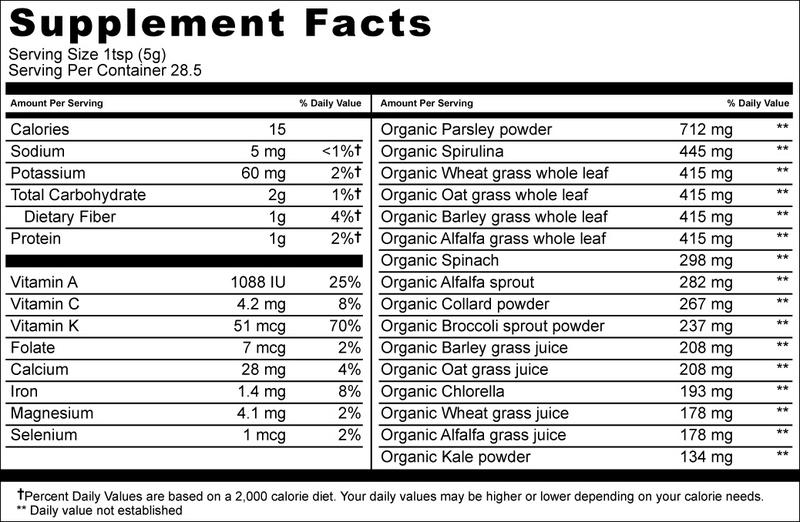 pHresh Greens Alkaline Superfood dairy free, Gluten Free, Vegan, ORGANIC image 2