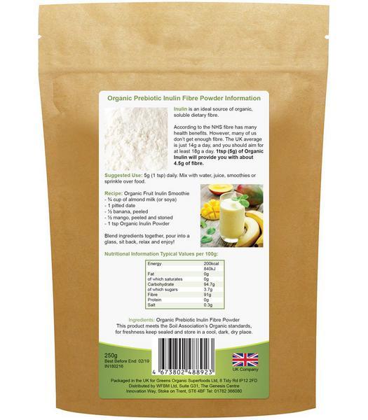 Inulin Probiotic Powder Vegan, ORGANIC image 2