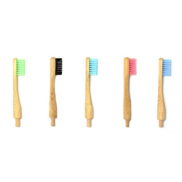 Replacement Bamboo Toothbrush Heads Black Vegan